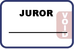 Self Expiring Juror Badge